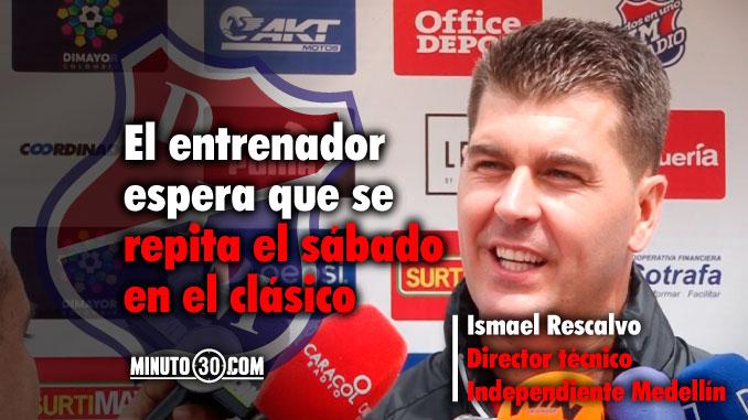 Ismael Rescalvo tiene un motivo para estar feliz y tranquilo