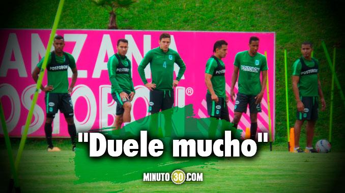 Jugador de Atletico Nacional lamenta perderse el clasico ante Medellin