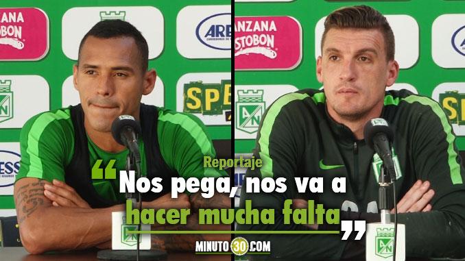 Jugadores de Nacional lamentan ausencia de referente para juego con Tolima