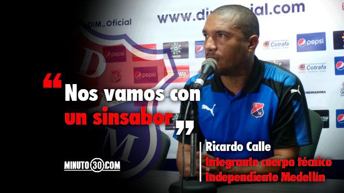 Ricardo Calle dio la cara tras la eliminacion de Independiente Medellin