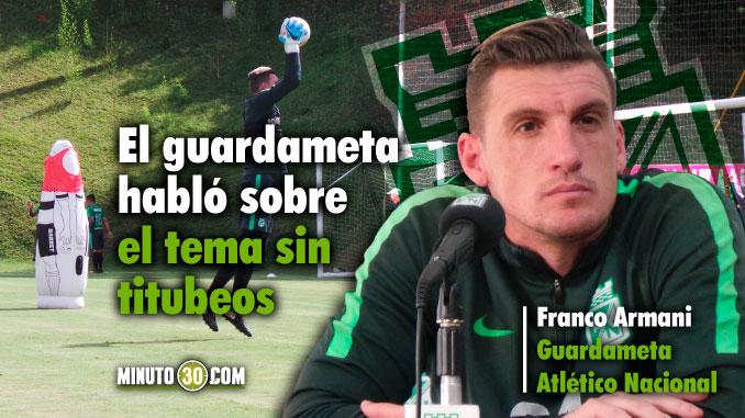 Tiene ofertas Armani para salir de Nacional el argentino responde