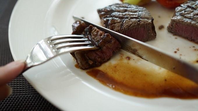 carne comida plato restaurate filete