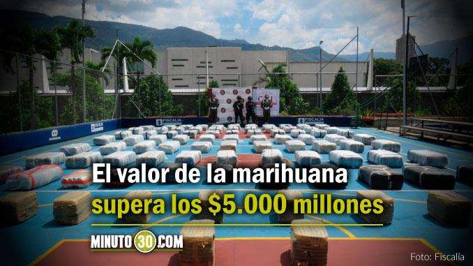 Así fue la incautación de más de 2.5 toneladas de marihuana en Bello