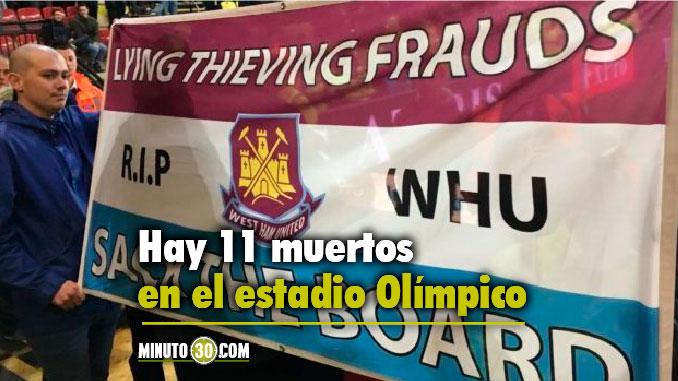 muertos en el estadio olimpico