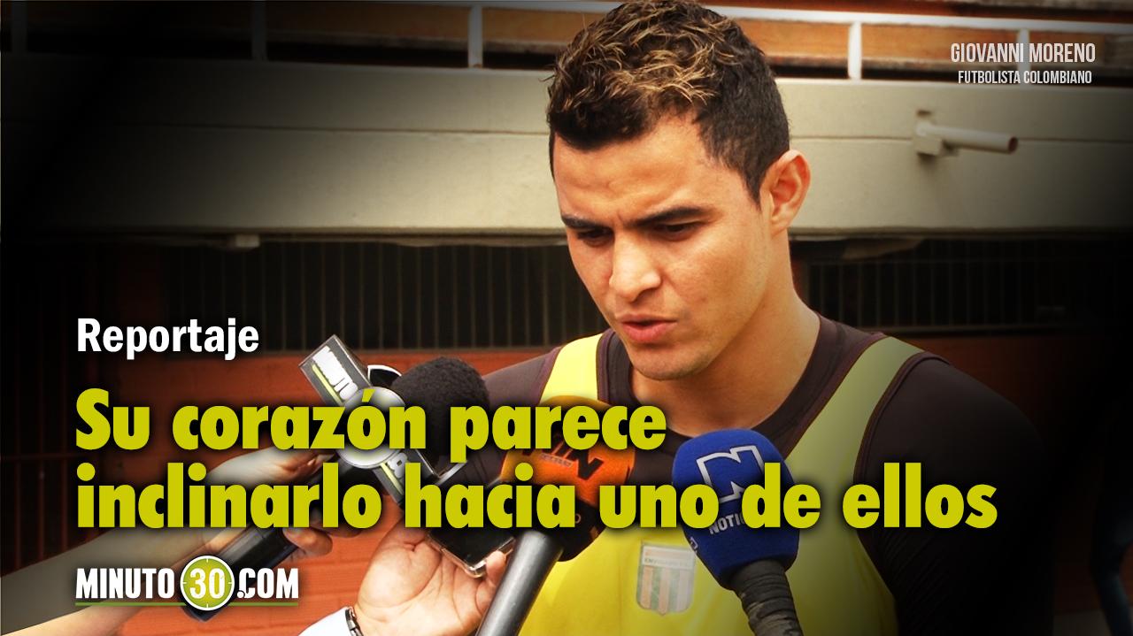 1280 Giovanni Moreno conto cuales equipos de Colombia lo han contactado