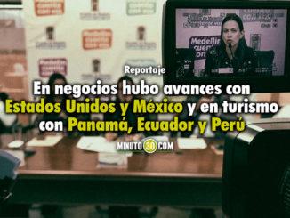 Rueda de prensa presentación de avances Internacionalización Medellín. Foto/Minuto30