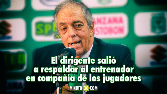 Botero dio a conocer postura de la institucion ante la eliminacion de Nacional 680