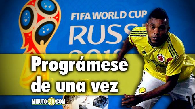 Fecha hora y rival de los partidos de Colombia en el Mundial