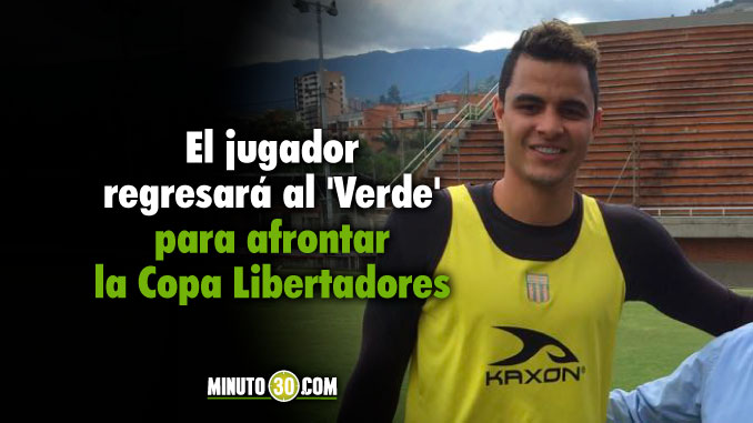 La estadia de Giovanni Moreno en Atletico Nacional sera limitada