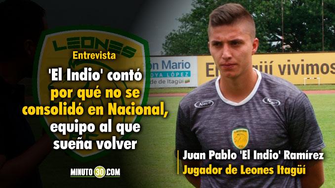 678 Juan Pablo Ramirez regreso de Pasto mas maduro y tiene grandes metas con Leones