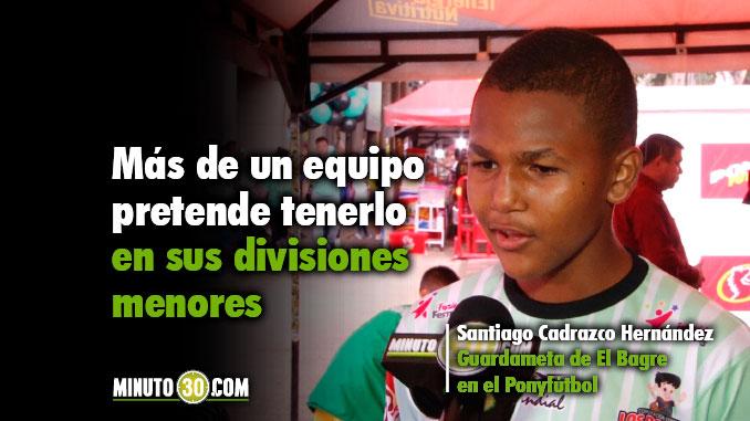 678 Santiago Cadrazco quedo eliminado del Ponyfutbol pero Medellin y Envigado lo quieren