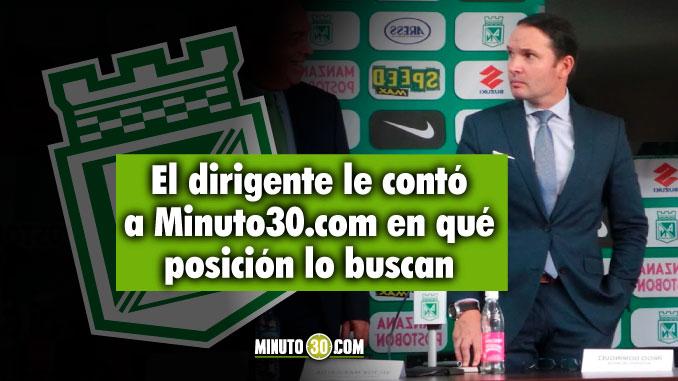 Atletico Nacional quiere un jugador mas confirmo Victor Marulanda
