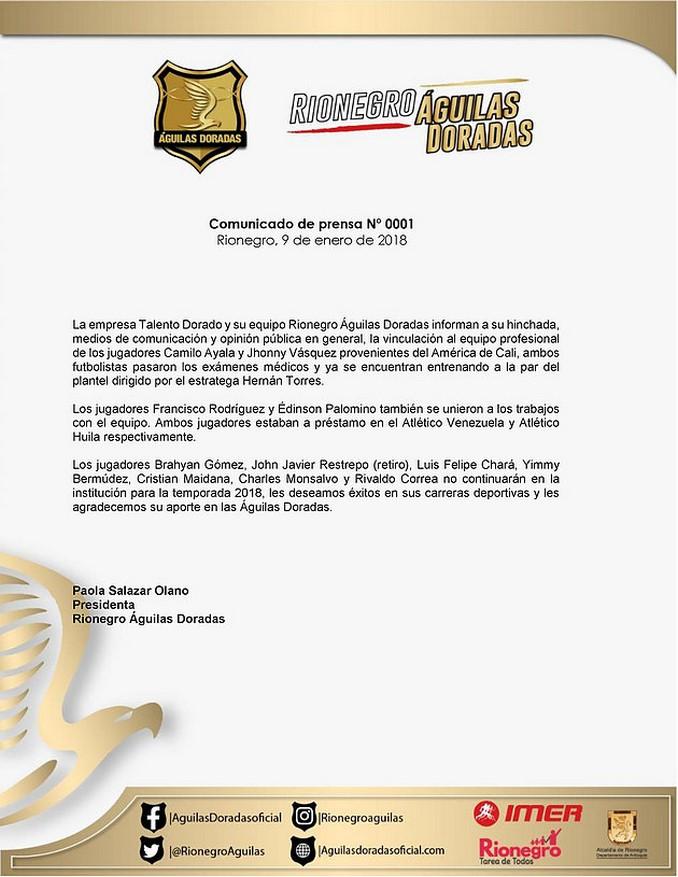 Contrataciones Rionegro