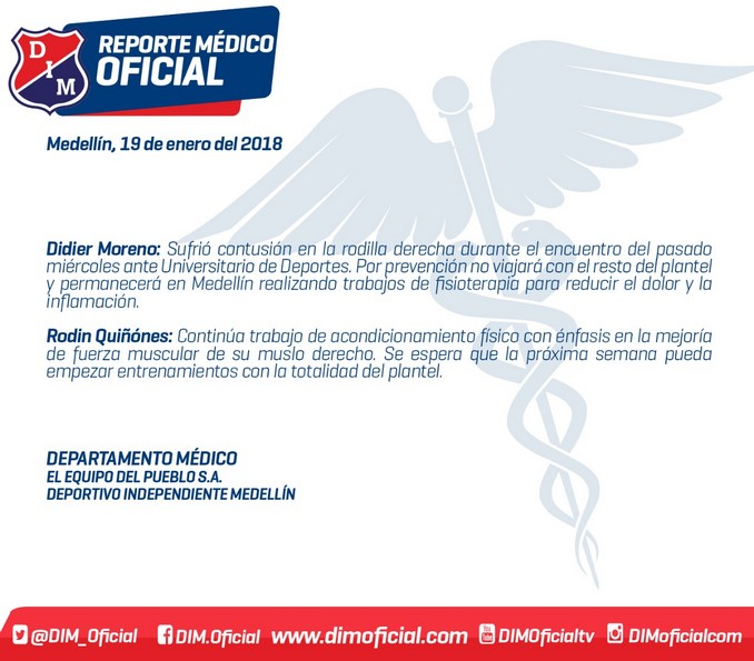 Parte medico Didier Moreno y Rodin Qui%C3%B1ones