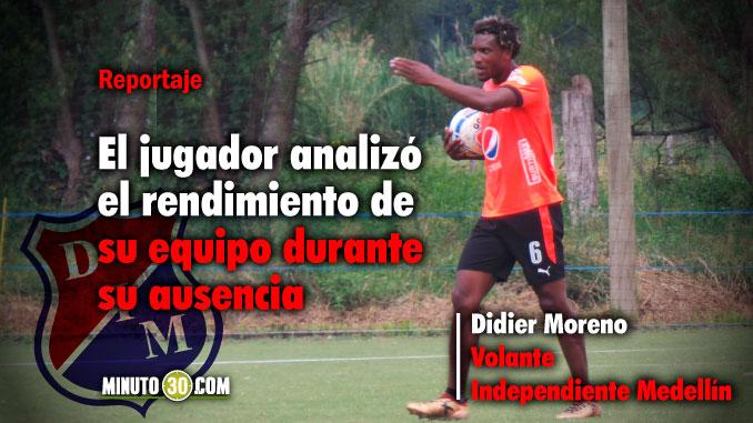 678 Didier Moreno ansioso por jugar de nuevo con Independiente Medellin