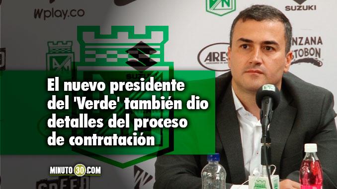 678 El vinculo de Juan David Perez con Atletico Nacional se remonta a la decada del 50