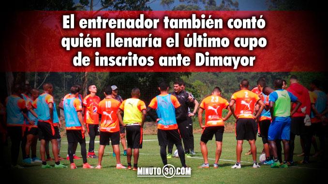 678 Ismael Rescalvo confirmo que le buscaran equipo a un jugador que pertenece al Medellin