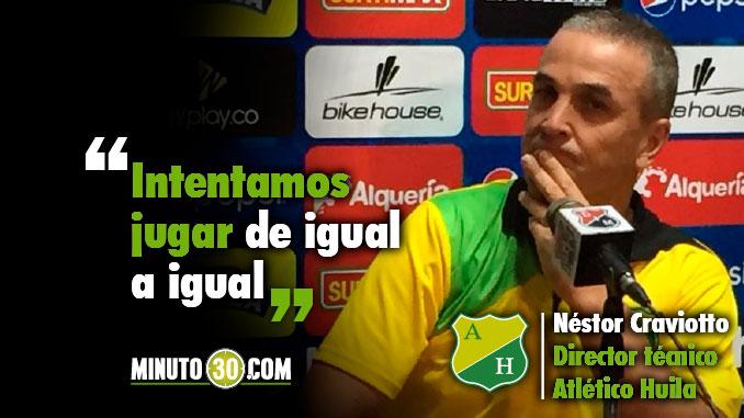 678 Reacciones Nestor Craviotto tras la derrota de Huila con Medellin