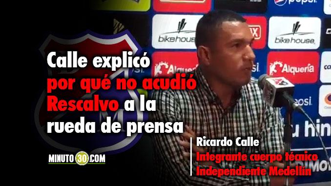678 Reacciones Ricardo Calle tras el triunfo de Independiente Medellin ante Huilla