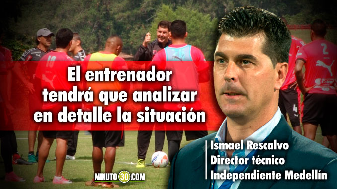 A Ismael Rescalvo le aparecio un dolor de cabeza tras el partido con Millonarios