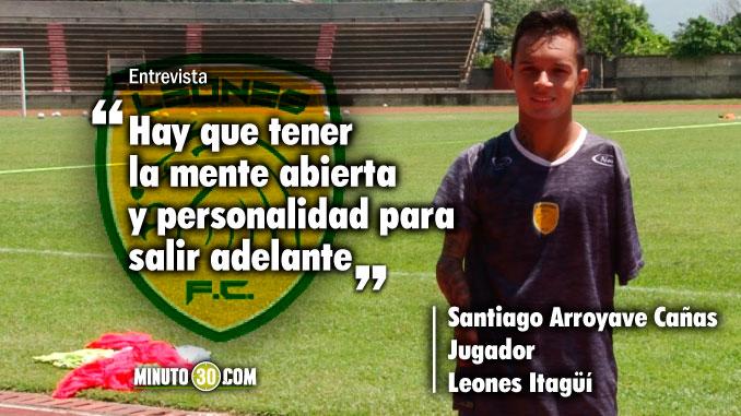 La ausencia de un brazo no limita al jugador de Leones Santiago Arroyave Canas