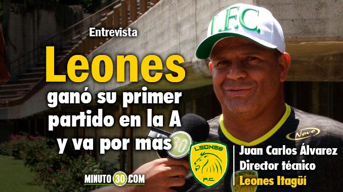 La parte emocional esta arriba le entra aire a la camiseta Juan Carlos Alvarez tras primer triunfo en Liga