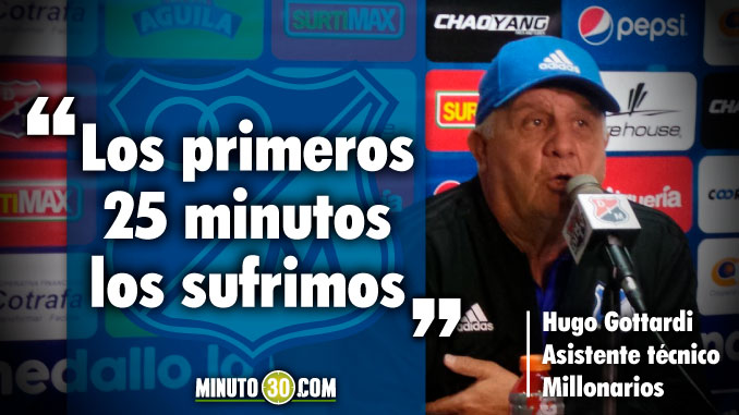 Reacciones asistente tecnico Millonarios tras la derrota ante Millonarios