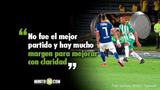 Reacciones de Jorge Almiron tras el empate de Nacional con Millonarios
