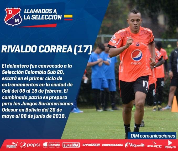 Rivaldo Correa convocado a seleccion sub20 1