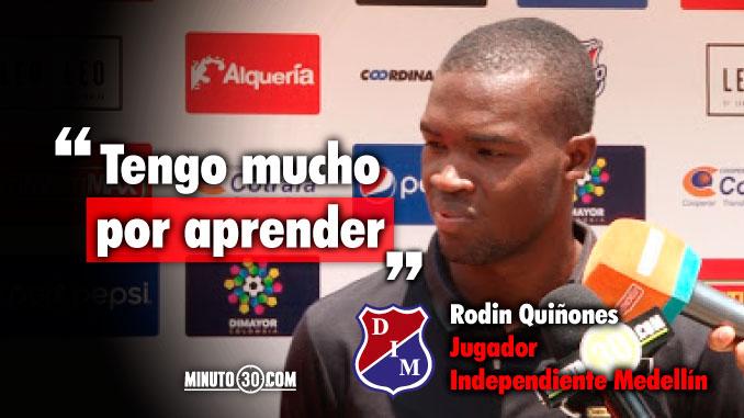 Rodin Quinones conto como va su acoplamiento al Medellin