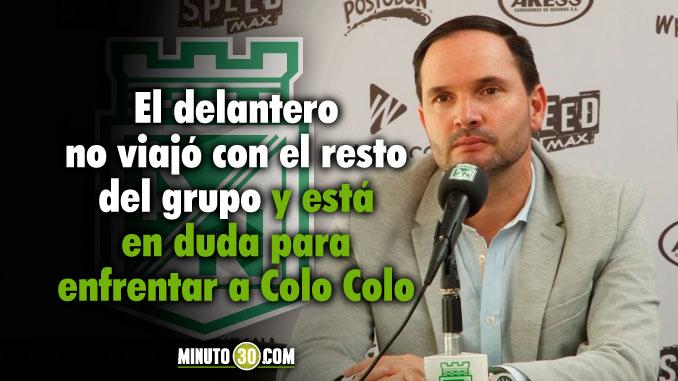V%C3%ADctor Marulanda habla sobre el viaje de Dayro Moreno a Chile