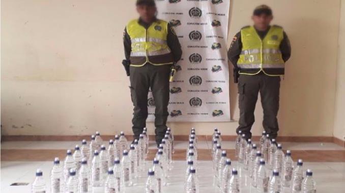 Policía incautó licor de contrabando que al parecer sería comercializado en las fiestas de Remolino, Magdalena