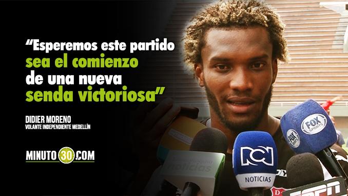 06 03 18 Didier Moreno ansioso de retornar a la titular del DIM 678