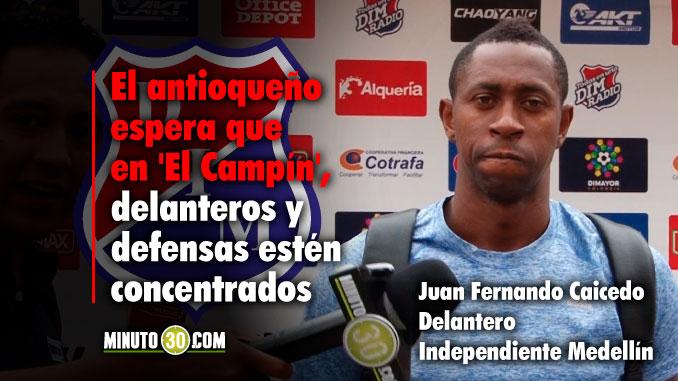 Caicedo quiere tomar el liderato de la tabla de artilleros en Bogota