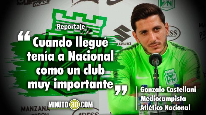 Gonzalo Castellani comento como vive su entrada a Nacional