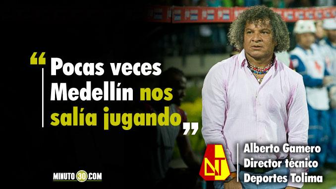 Las opciones mas claras del partido las tuvimos nosotros dijo Gamero tras empate con Medellin