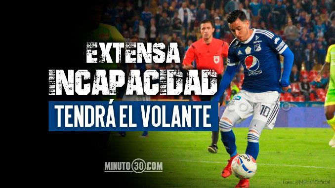 Millonarios confirmo delicada lesion de Santiago Montoya