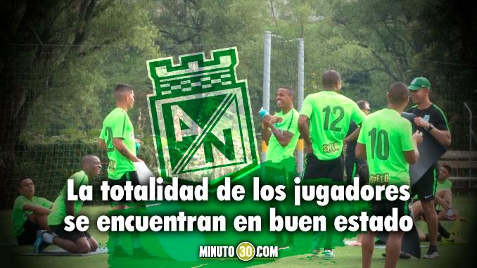 Nacional listo para enfrentar a Jaguares este miercoles en el Atanasio