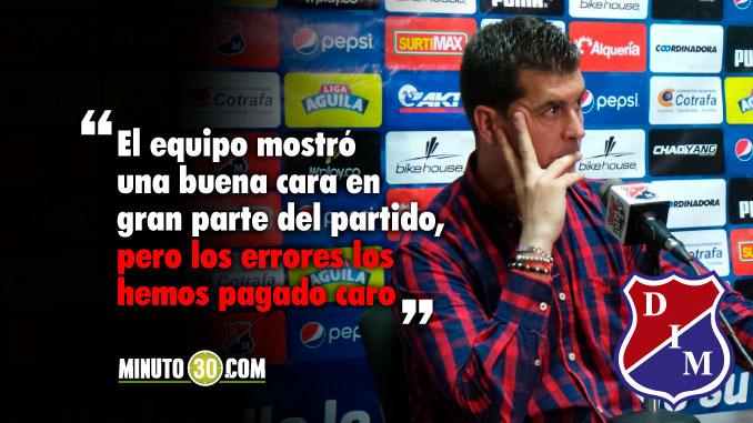 Reacciones de Ismael Rescalvo tras la derrota de Medellin con Santa Fe