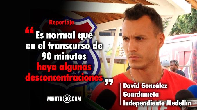 Se viene jugando bien destaca David Gonzalez