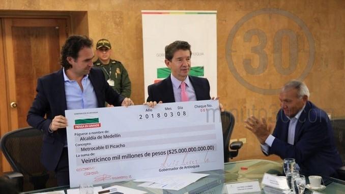 Entrega recursos de la Gobernación a la construcción del Metrocable de El Picacho