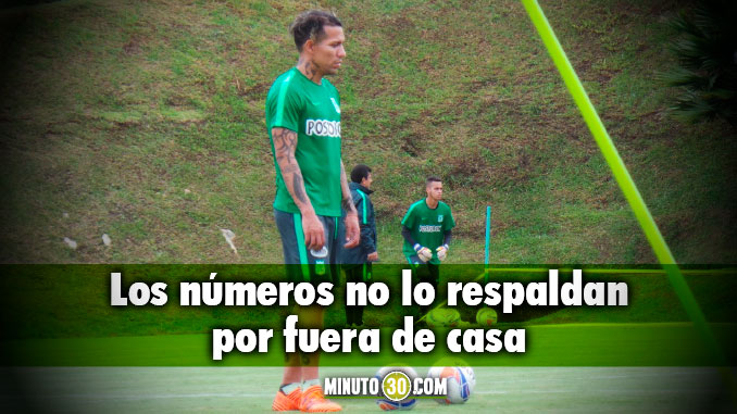 Dayro Moreno es goleador con Nacional solo en el Atanasio Girardot