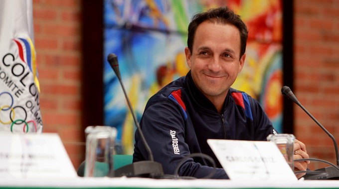 El capitan del equipo colombiano de Copa Davis Pablo Gonzalez Copiar