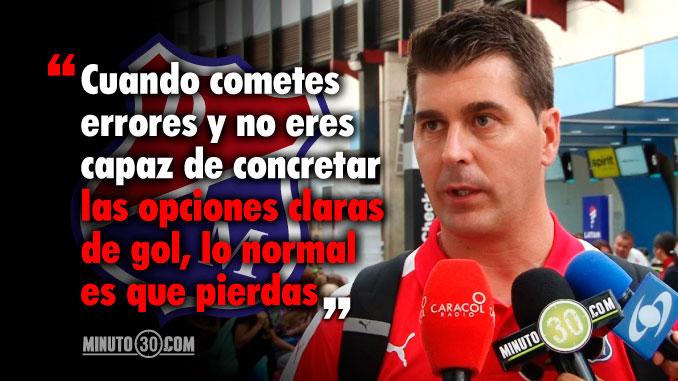 Reacciones de Ismael Rescalvo tras derrota de Medellin con Sol de America