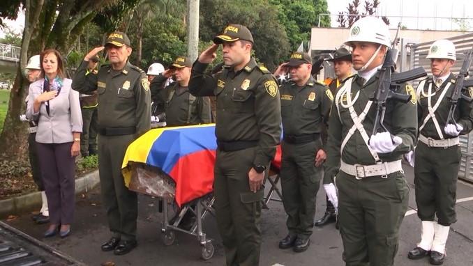 Con honores despidieron en Medellín a policía asesinado en Urabá