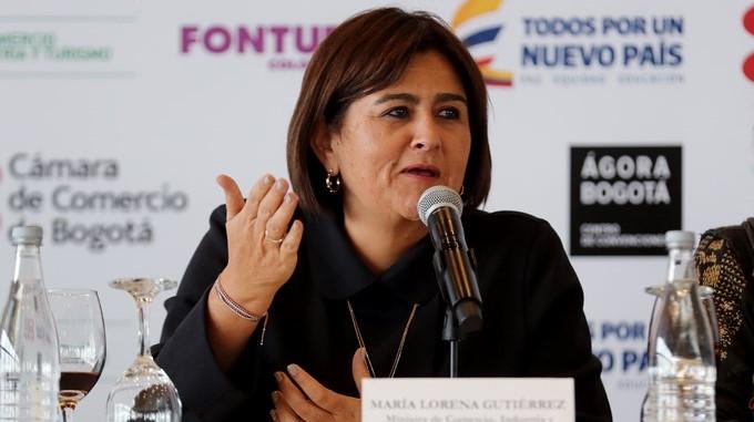 ministra de Comercio Industria y Turismo Maria Lorena Gutierrez
