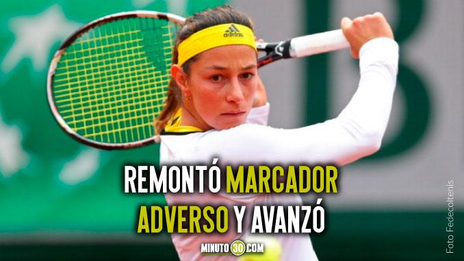 Mariana Duque clasifico a segunda ronda en Roland Garros