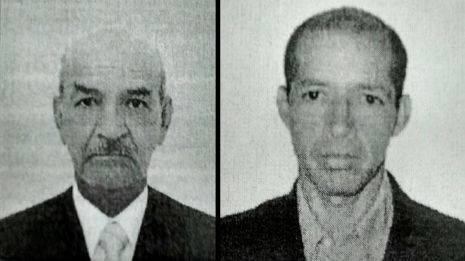 Elías de Jesús Gómez López y Porfirio Antonio Gómez Vargas, padre e hijo asesinados