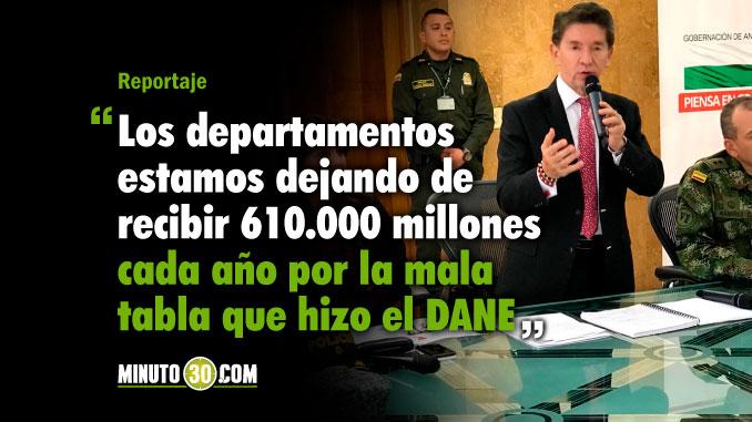Gobernacion de Antioquia demandara al DANE por impuestos de ventas de licor
