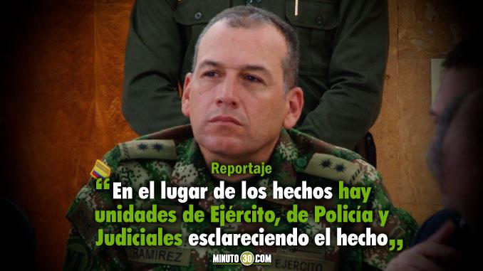 Incineracion de Maquinaria Amarilla en San Andres de Cuerquia es materia de investigacion por las autoridades policiales